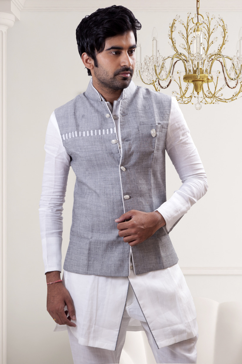 Nehru Collar Shirt Mandarin Collar Shirt. Nehru Collar Shirt despite of being a traditional outfit will always remain in fashion. It is a kind of outfit which if carried properly by the wearer leaves a long lasting impression wherever he goes.