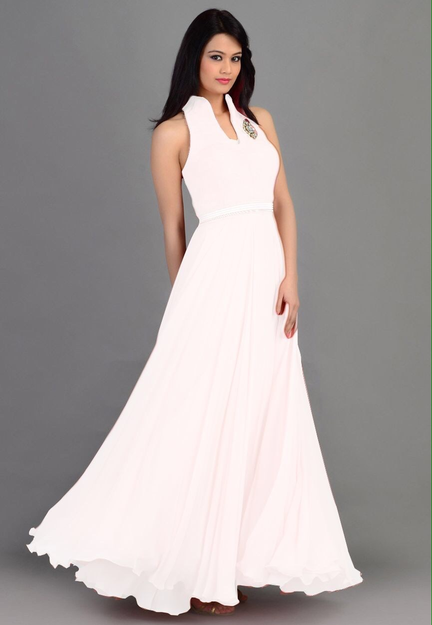 Multi-color Semi Stitched Party Wear Gowns