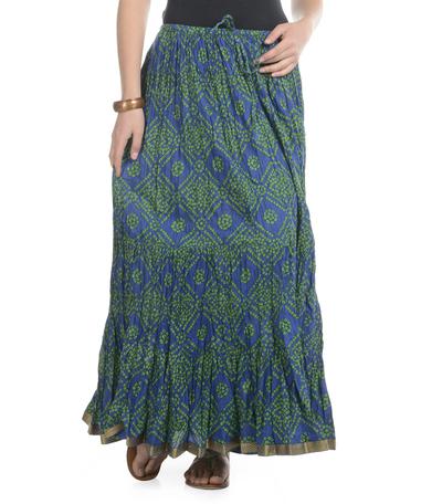 cotton long skirt