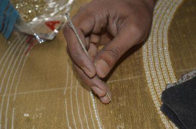 Zari embroidery stitches
