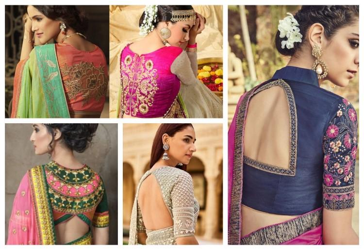 Top 20 Trendy Designer Silk Saree Blouse Designs