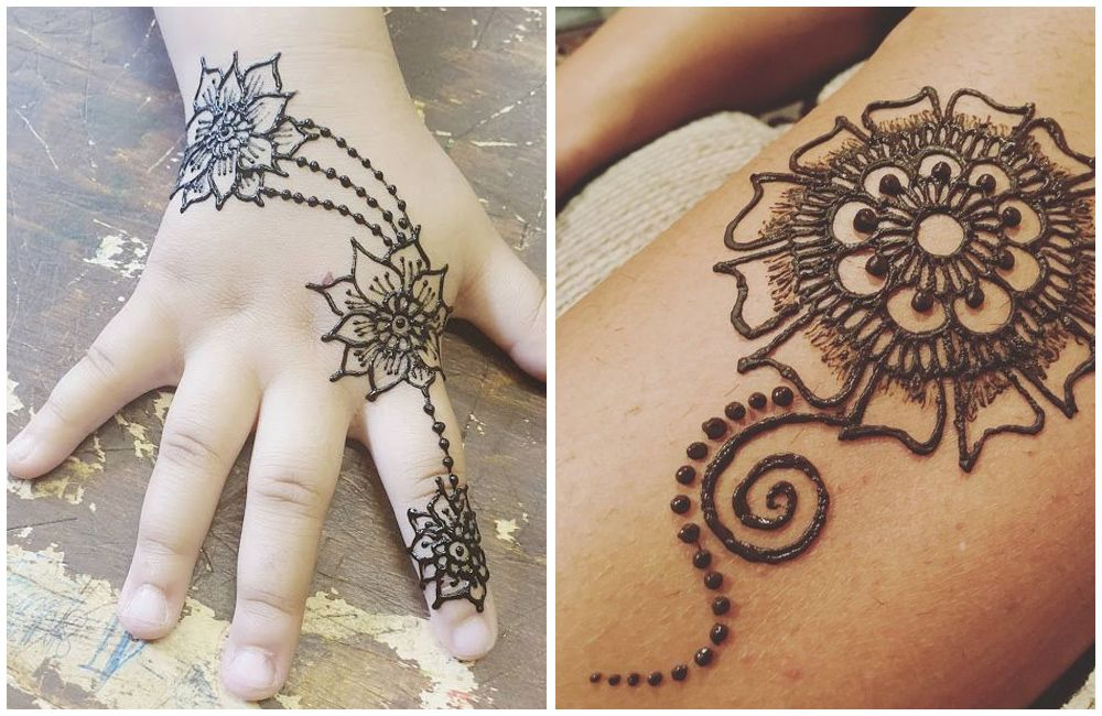30 Easy And Simple Mehendi Designs For Kids,Simple Ceiling Corner Design With Cement