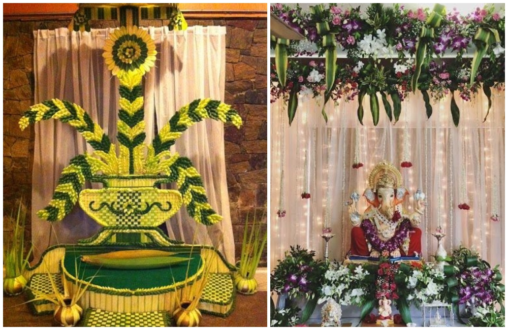 15 Simple And Creative Homemade Ganpati Decoration Ideas,Simple 3 Bedroom House Plans With Photos